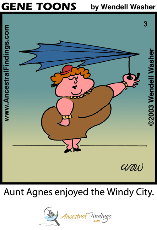 Aunt Agnes Enjoyed The Windy City