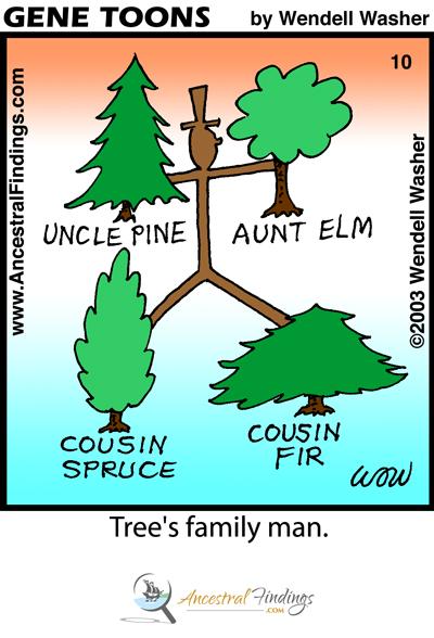 Tree's Family Man (Genetoons Cartoon #10)