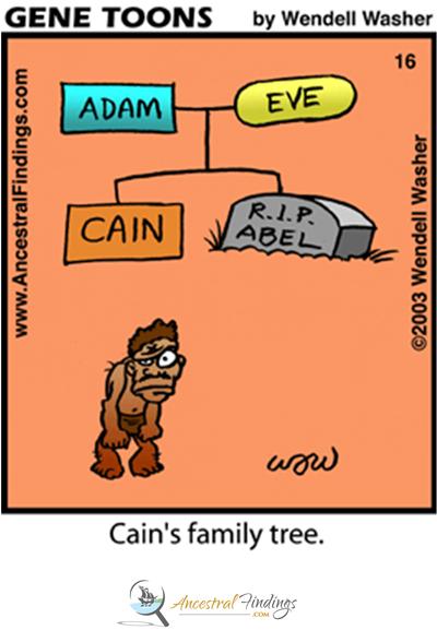 Cain's Family Tree (Genetoons Cartoon #16)