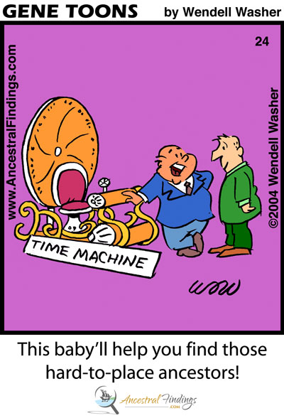 Genealogy Time Machine (Genetoon #24)