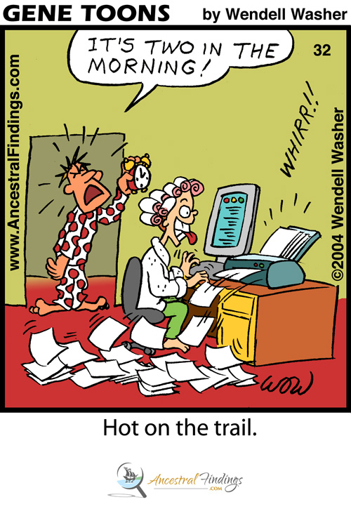 Hot on the Trail - (Genetoons #032)
